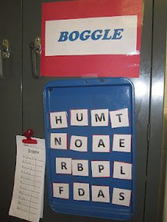 """Homemade """"Boggle"""" Board: An Anytime Word Work Center"""