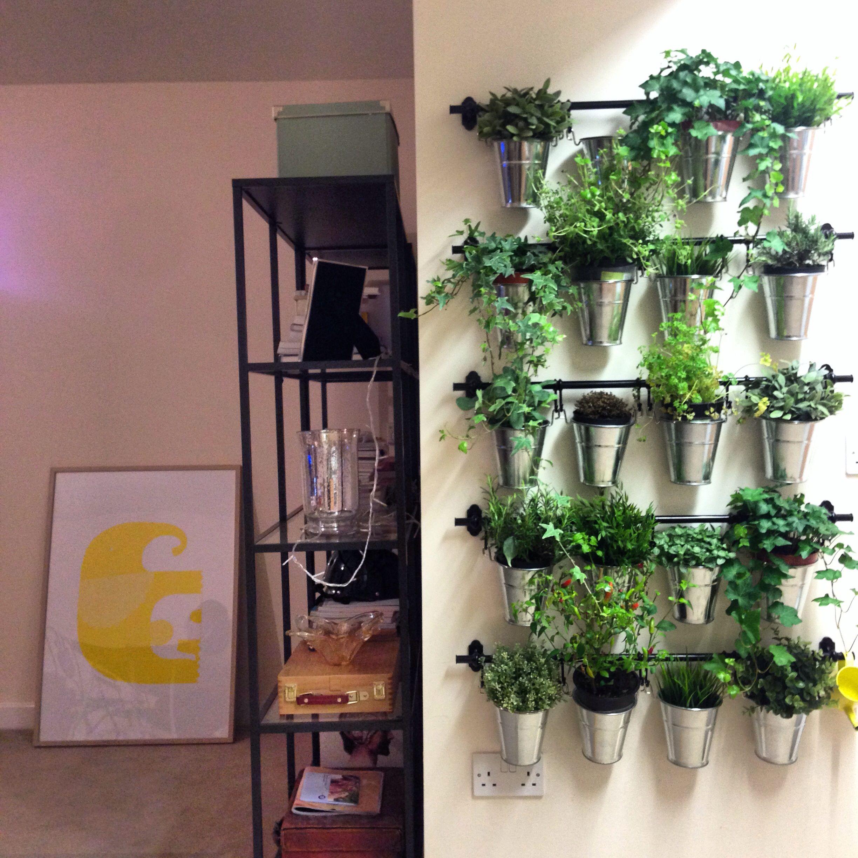 Kitchen Garden Pots: Herb Garden Out Of IKEA Plant Pots And Kitchen Rails. DIY