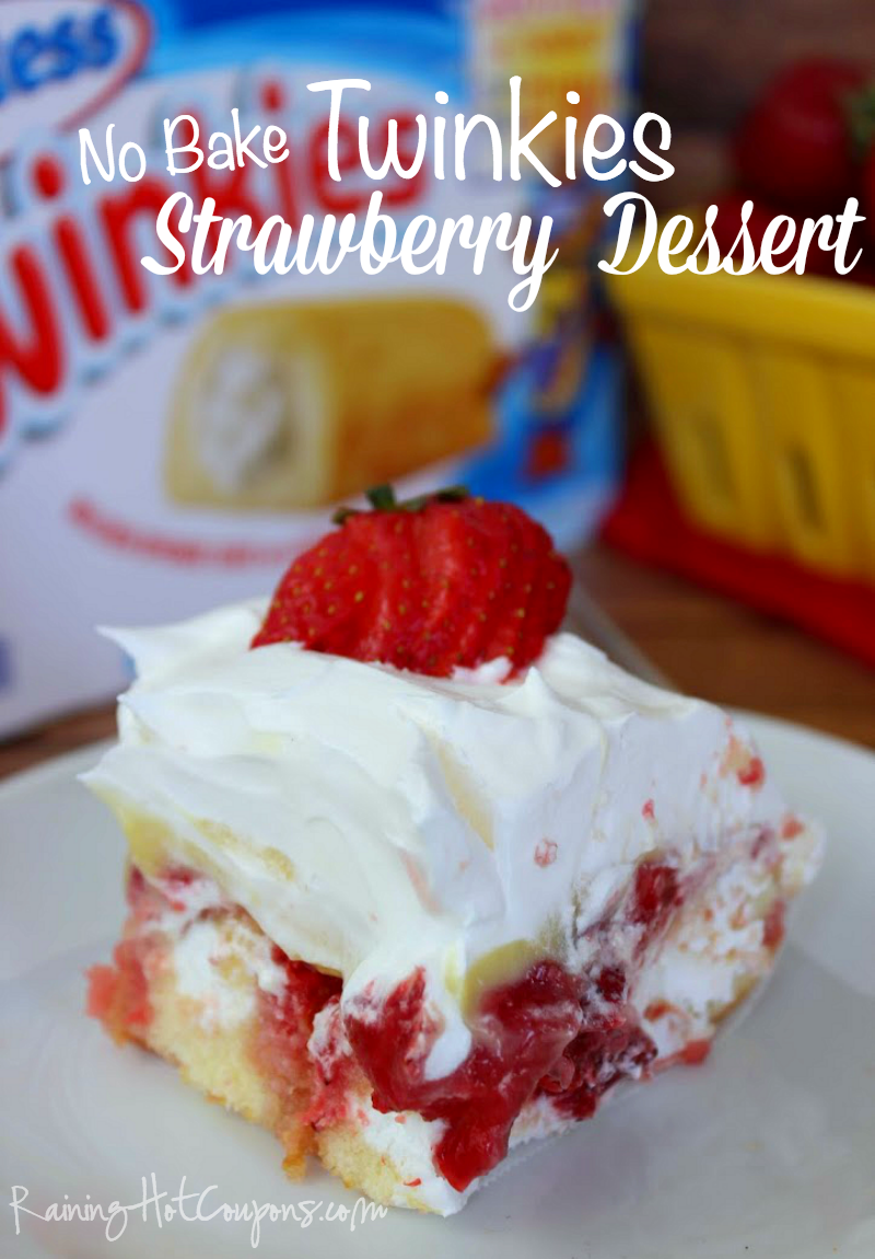 No Bake Twinkie Strawberry Dessert