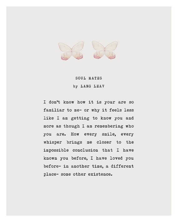 Lang Leav love poem soul mates love poetry art gif