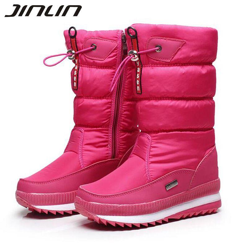 Nowy 2016 Damskie Buty Zimowe Damskie Snieg Gruby Odkryty Antyposlizgowe Wodoodporne Buty Sniegowe Dla Kobiet Botas Mujer Winter Boots Women Womens Boots Boots