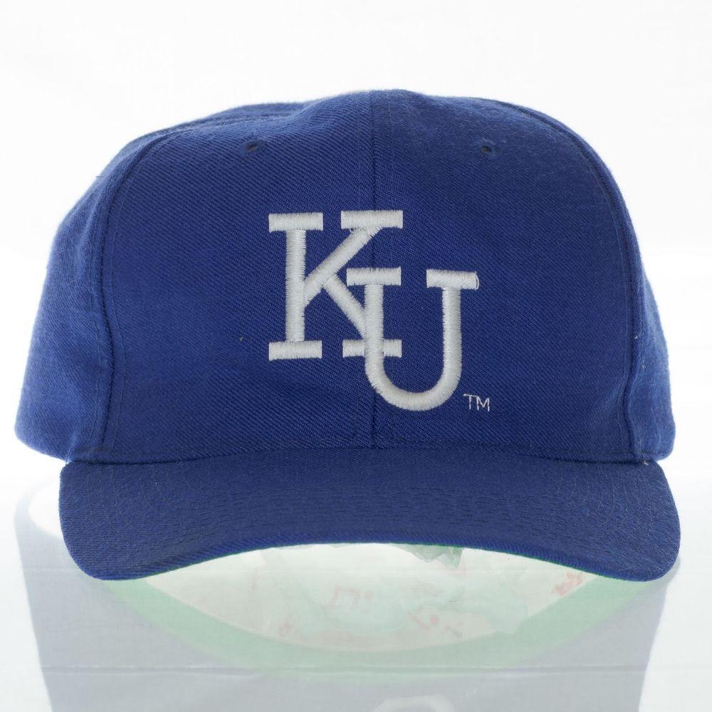 new product e8cca c38eb New Era Kansas Jayhawks Vintage Hat Snapback KU Universtiy Pro Model One  Size   Clothing, Shoes   Accessories, Men s Accessories, Hats   eBay!