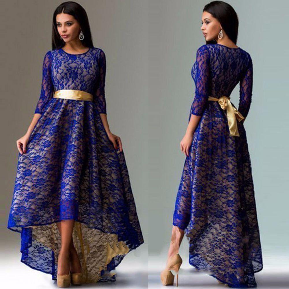 Elegant lace long sleeve plus size waterfall dress modern for Waterfall design dress