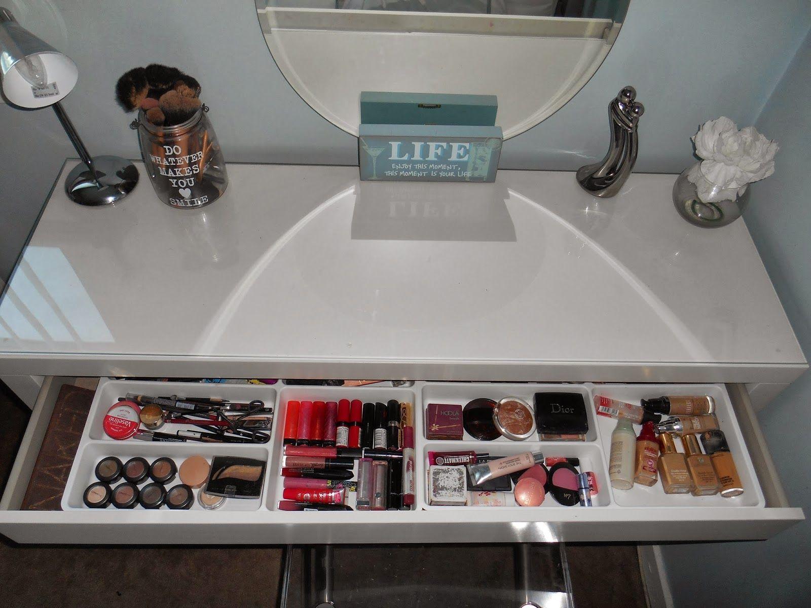 Make Up Organization Malm Vanity