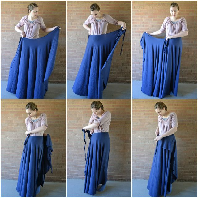 One Seam Wrap Skirt FREE Pattern...needs 3-4 yds of fabric...but ...