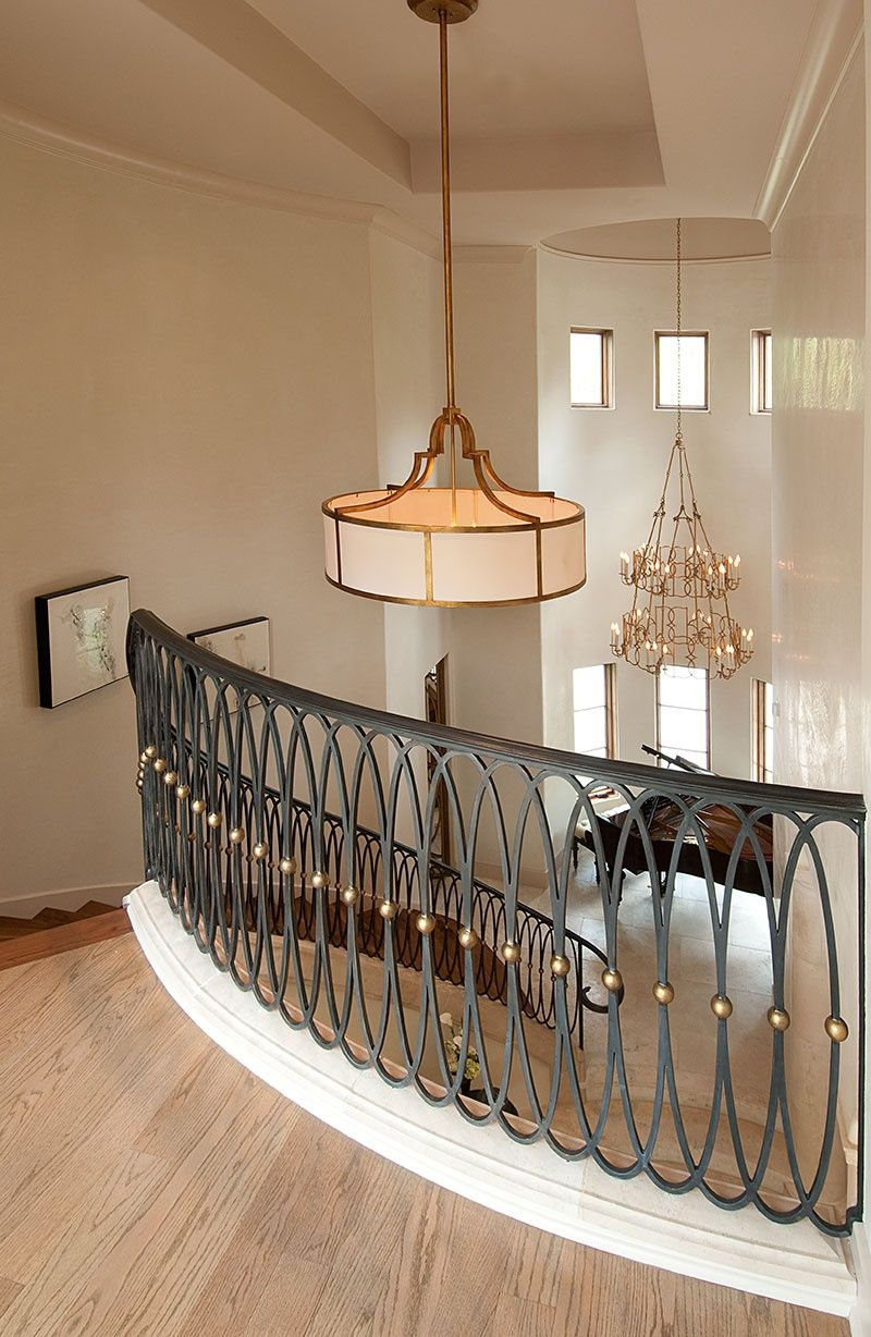 Steel grill design for stairs - Metal Railing Shaped In Ovals For A Unique Look By Slovack Bass Design
