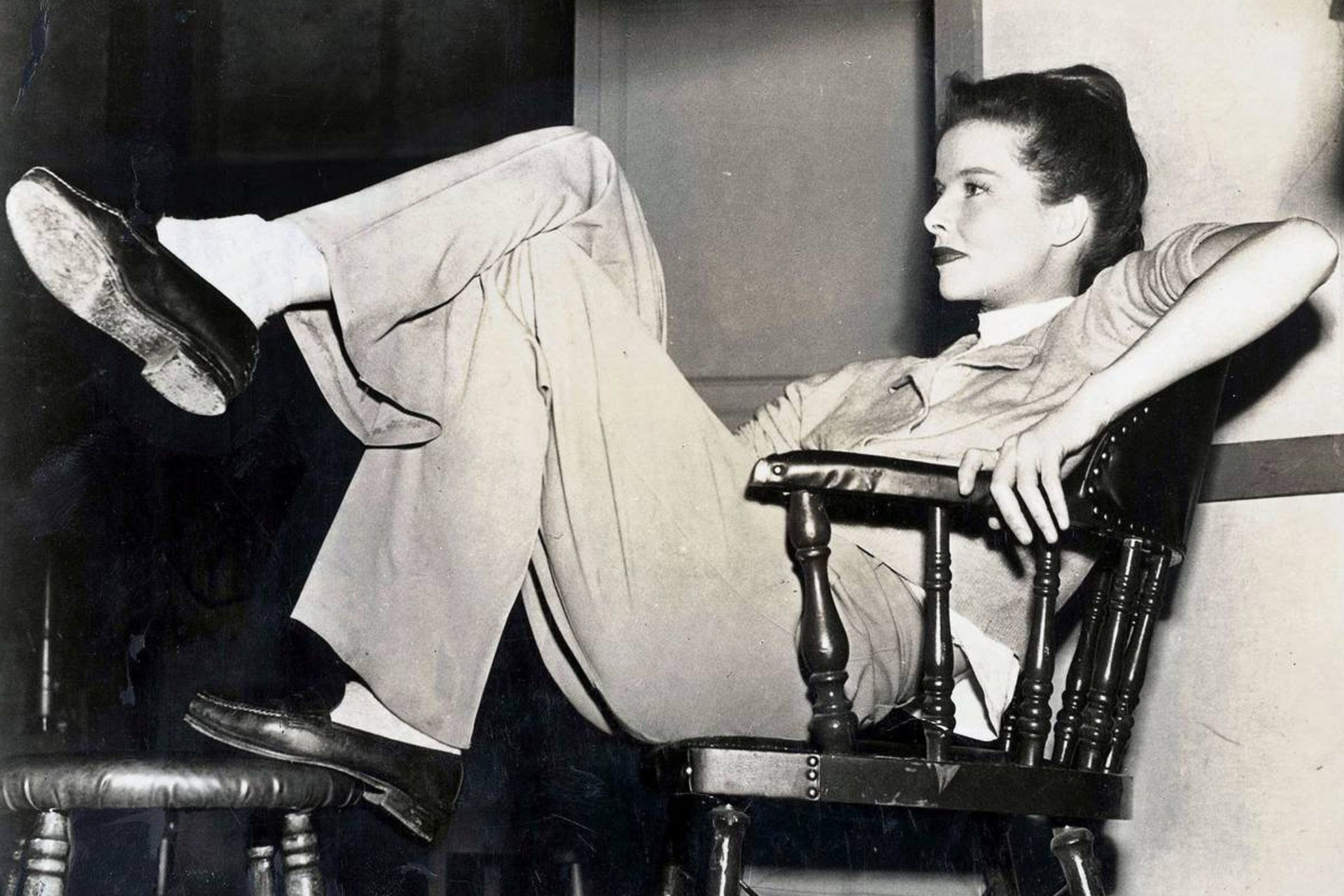 Tomboy Style - Katherine Hepburn (With images) | Katherine hepburn ...