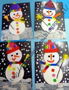 Maestra caterina pupazzi di neve disegni pupazzo for Maestra caterina natale