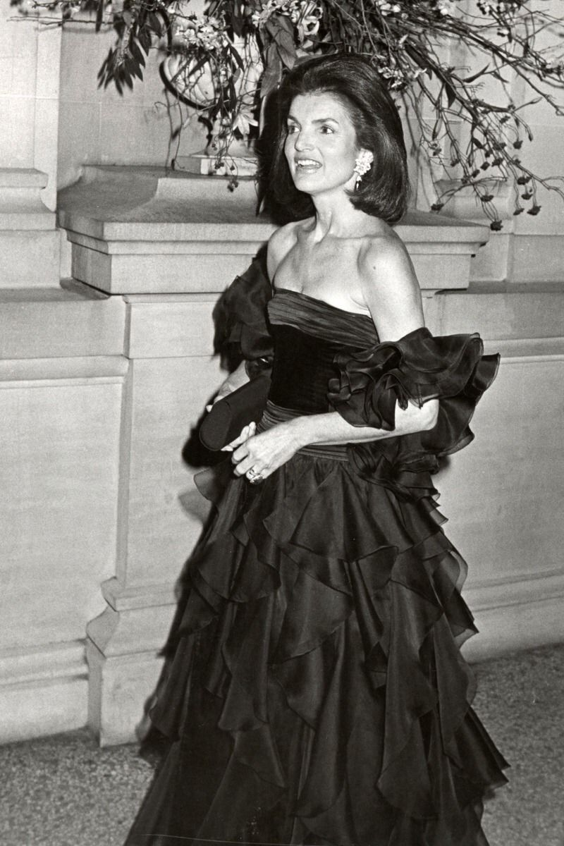 """Jackie at the Costume Institute Gala Presents """"Fashions of The Hapsburg Era, December 3, 1979."""
