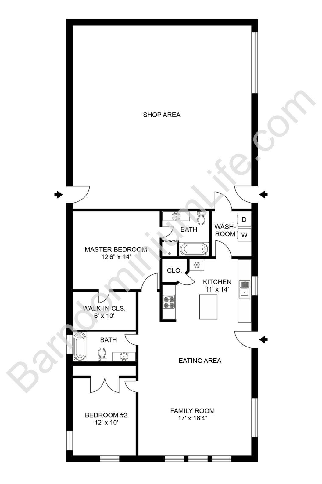 10 Awesome Inspirations For Contemporary Barndominium Plans Barndominium Floor Plans Pole Barn House Plans Metal Building Homes