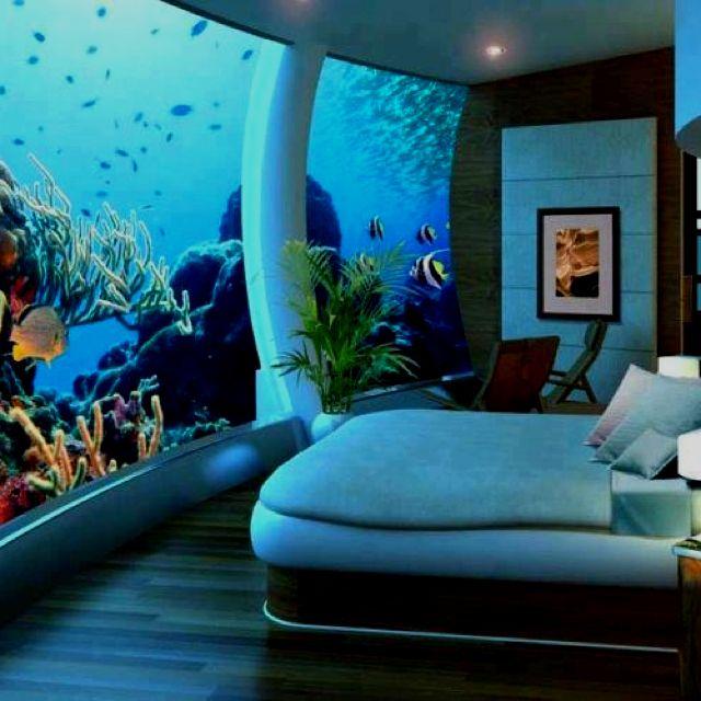 Hotel In Fiji Under The Ocean Poseidon S Unique Bedroom Design Dream Bedroom Underwater Bedroom