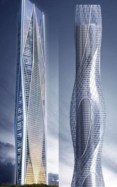 Futuristic Architecture Mexicos New Twin Towers Rotating Skyscrapers