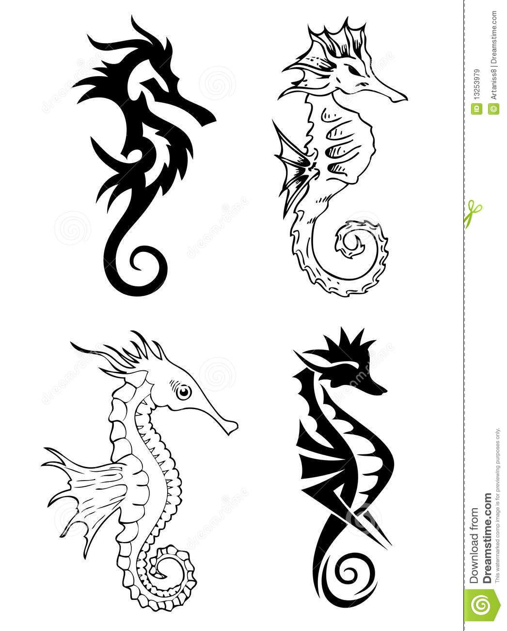 2fd69a662 Seahorse Tattoo Designs Black Sea horse tattoo design | tattoos ...