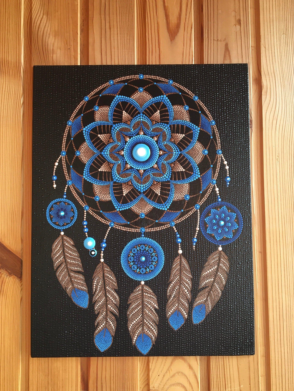 Dream Catcher Dot Mandala | Etsy