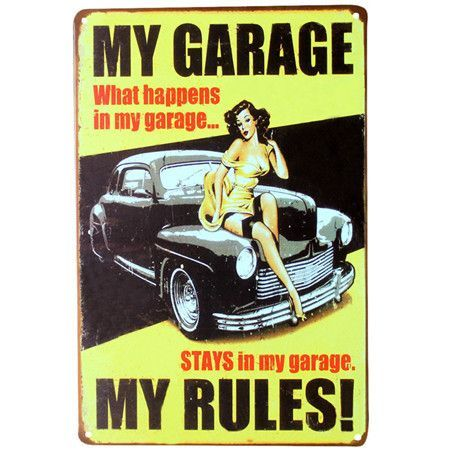 8 Styles Vintage Art Car Repair Metal Signs Retro Wall Decor