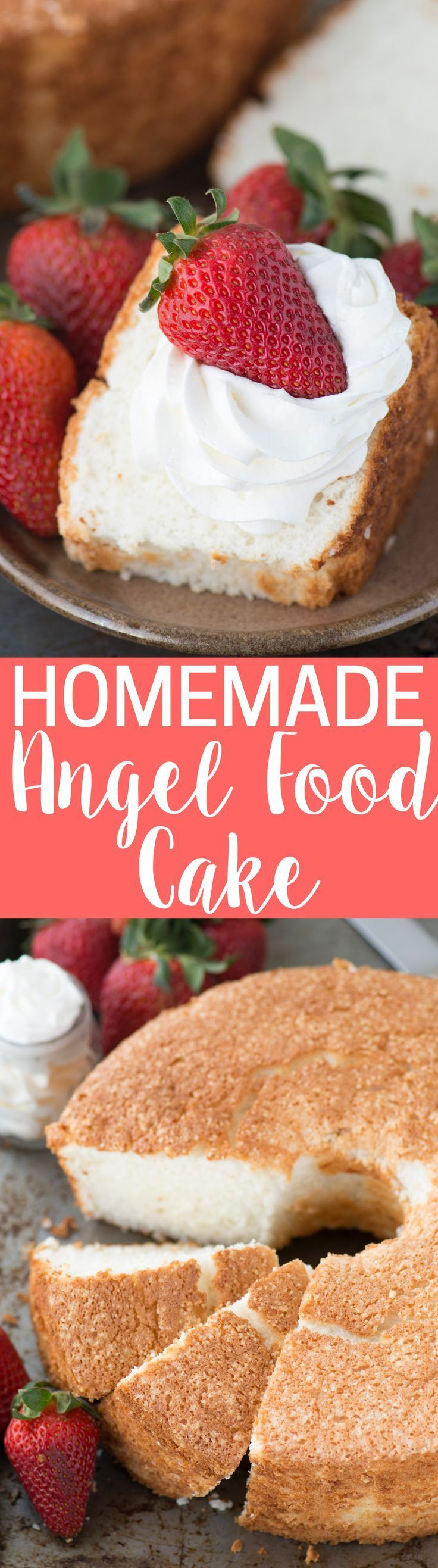 100 homemade angel food cake! This is the recipe that