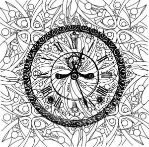 Adult Coloring Pages Clock