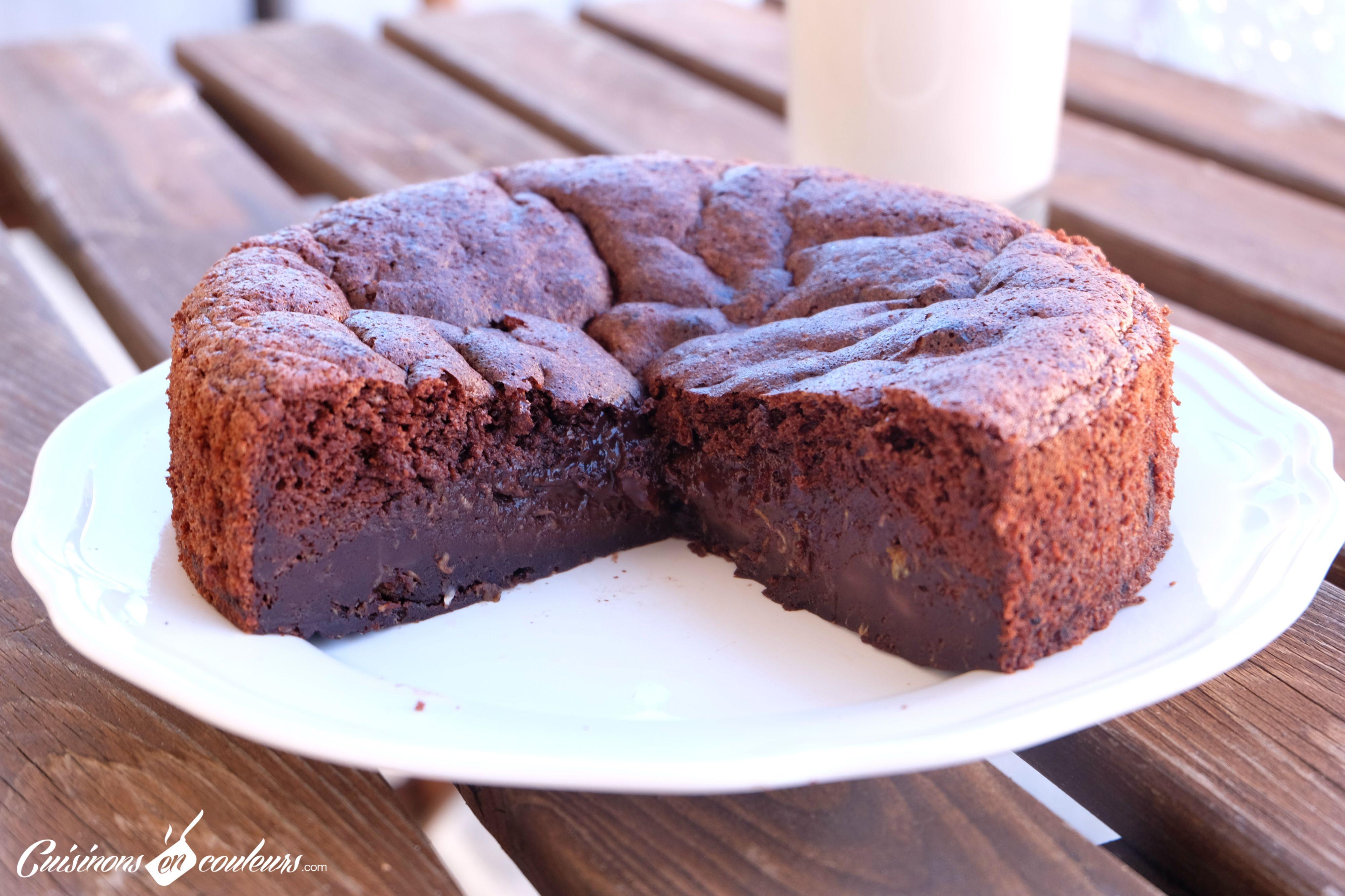 Gâteau au chocolat à tomber sans beurre et sans sucre ...