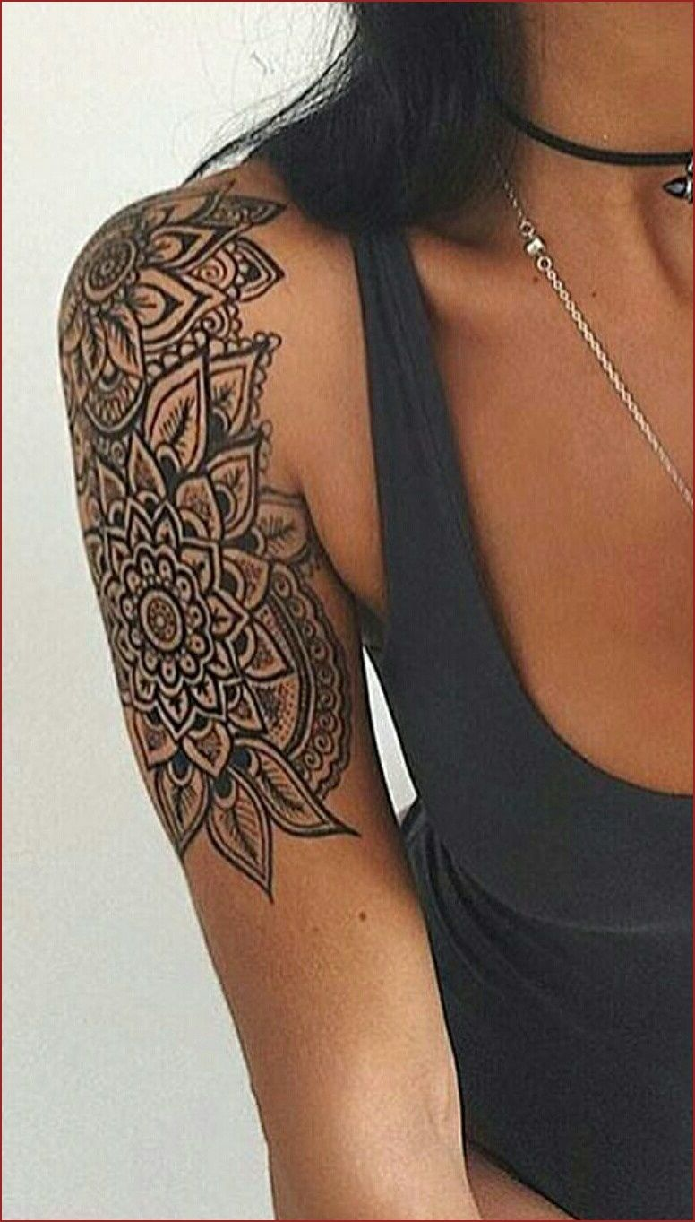 Bicep Tattoo Female Shoulder Tattoos For Women Mandala Tattoos For Women Mandala Arm Tattoos