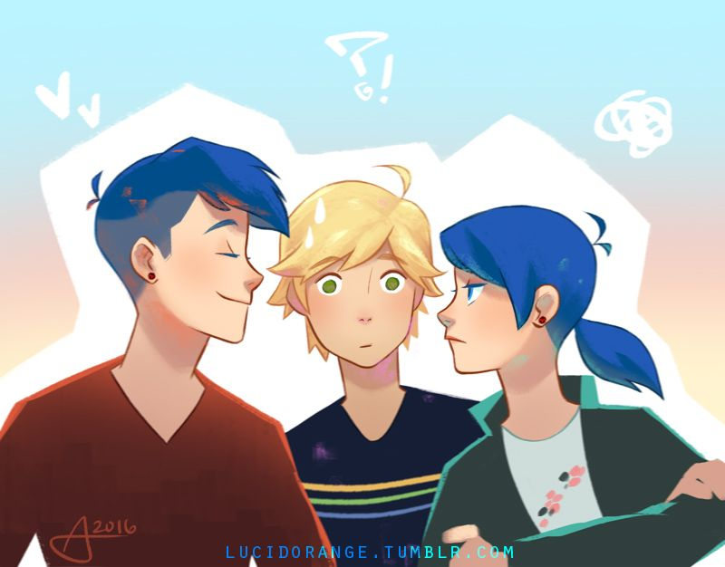Lucidorange Imagine Marin Turned Out To Be Marinette S