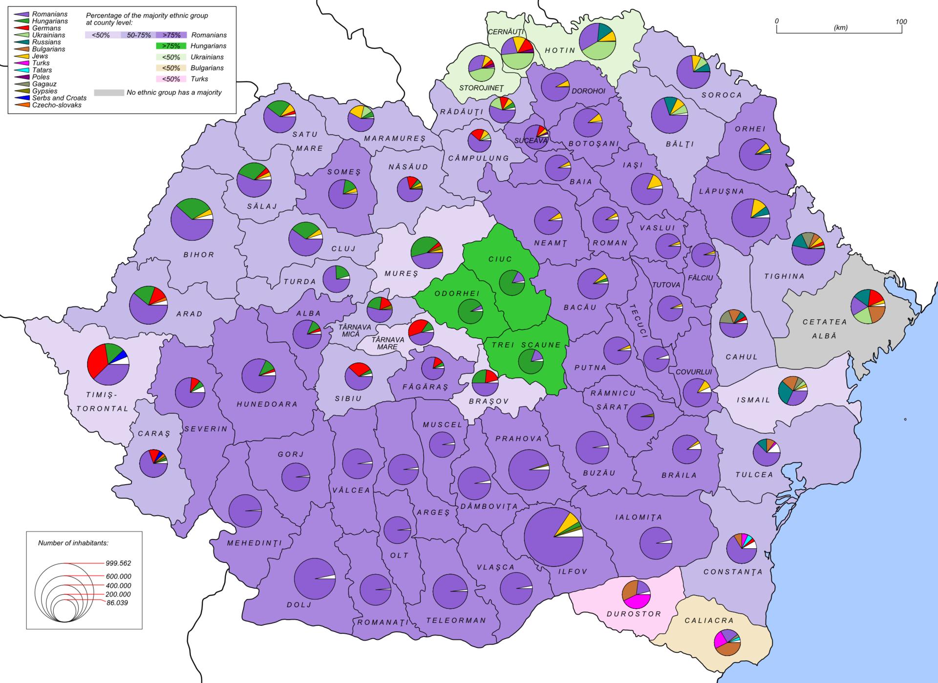 Romania 1930 ethnic map EN - Bessarabia - Wikipedia | Maps