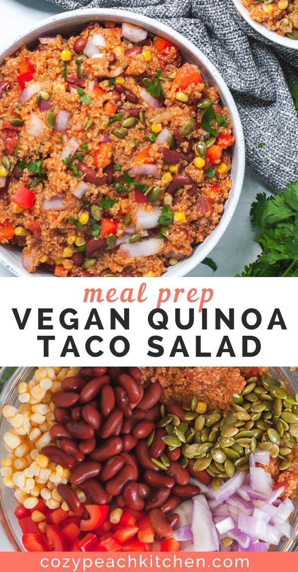 This vegan quinoa taco salad is versatile and jam packed with nutrients, making ...   - cool ideas -