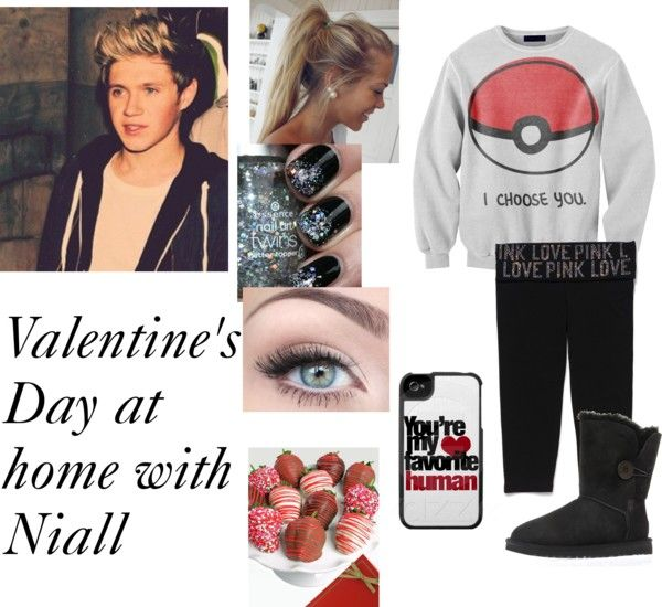 """""""Valentine's Day at home with Niall"""" by directioner1011 ❤ liked on Polyvore"""