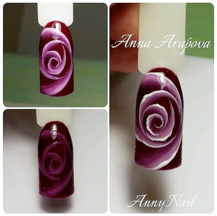 дизайн ногтей розы фото пошагово экспозиции