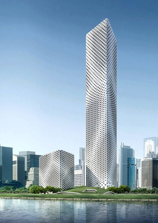 Architectural Drawings Of Skyscrapers sinosteel international plaza skyscraper diagram, tianjin, china