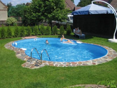 small kidney shaped inground pool designs with umbrella - Swimming Pool Designer