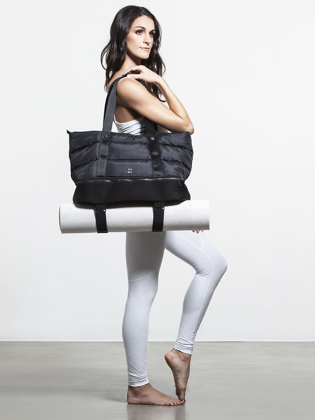 14002047212d Luxe Gym Bag by SWEATY BETTY in Black Small Home Gyms