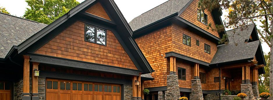 Best Cedar Shingles Black Trim Exterior Colours Pinterest 400 x 300