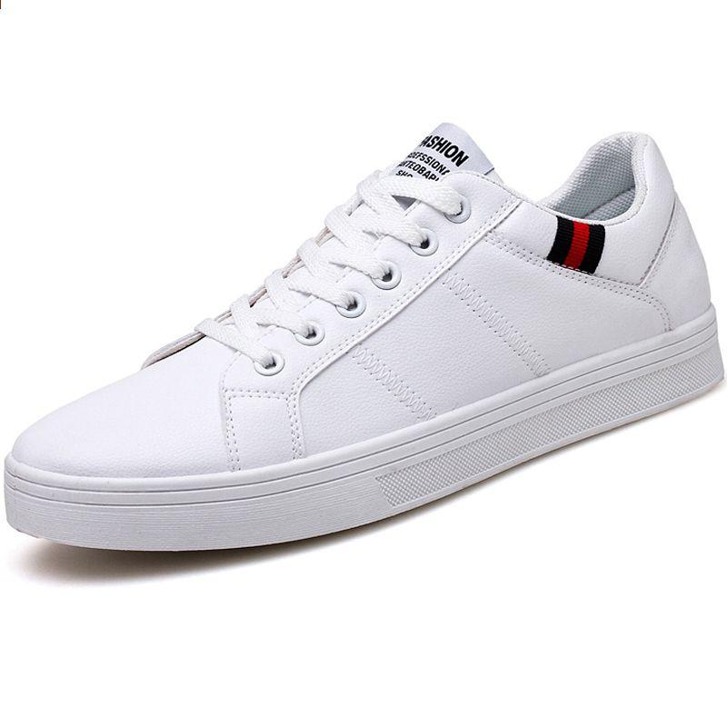 2018 Meskie Obuwie Meskie Czarne Plaskie Meskie Buty Do Chodzenia Skorzane Modne Trampki Marki Obuwie Jesie Mens Casual Shoes Sneakers Fashion Leather Sneakers
