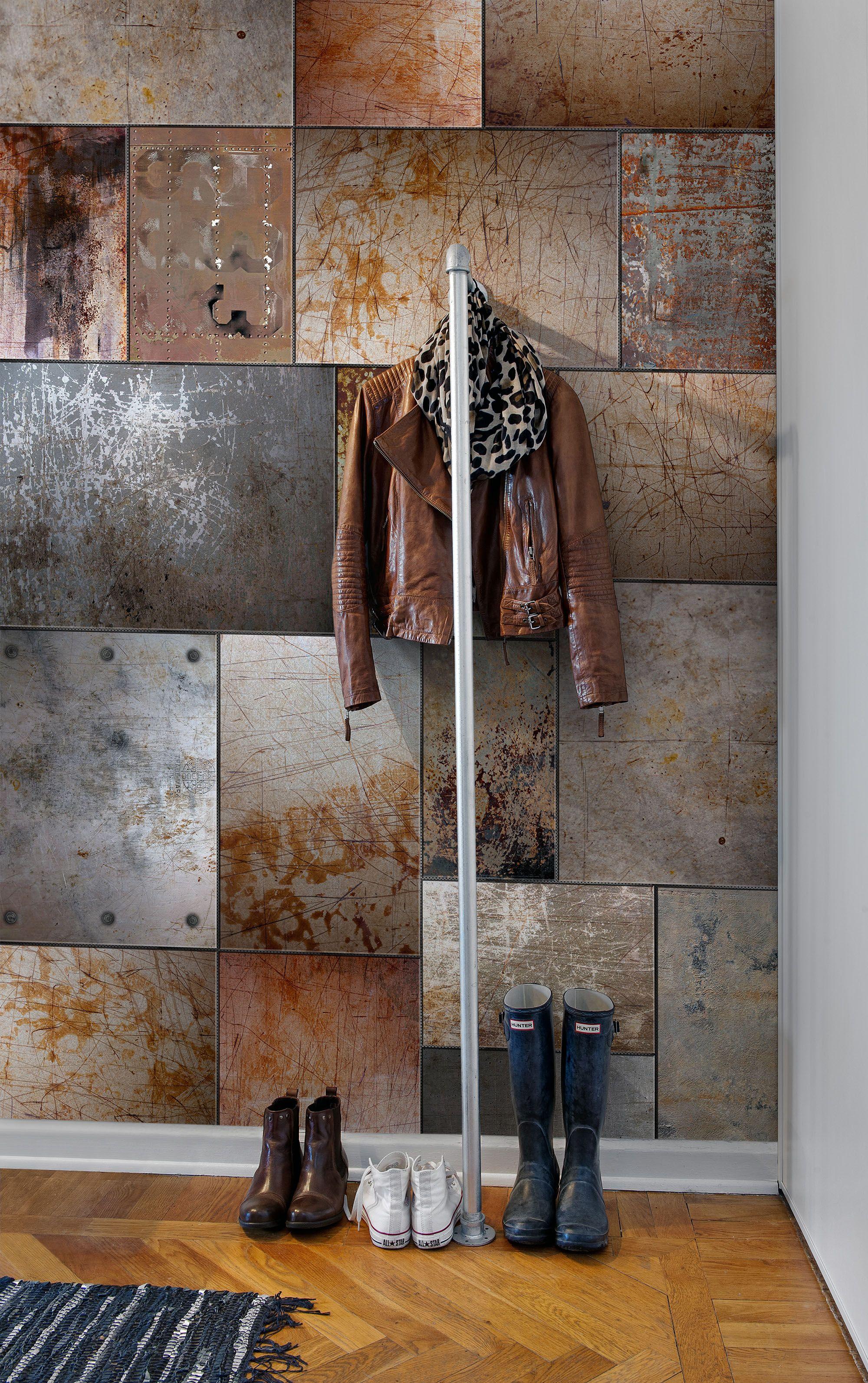 Steel Wandgestaltung Tapete Moderne Tapeten Und Wandgestaltung