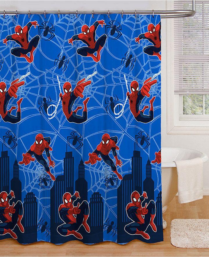 Closeout Spiderman Shower Curtain Bedding Shower Curtain
