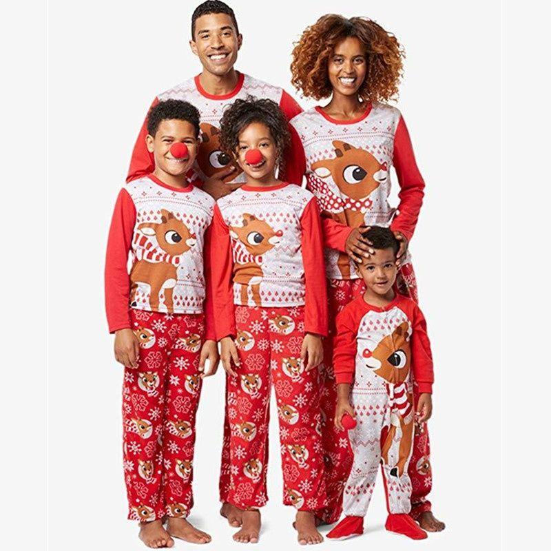 Christmas Pajamas Family Matching Pijama Women Father Mother
