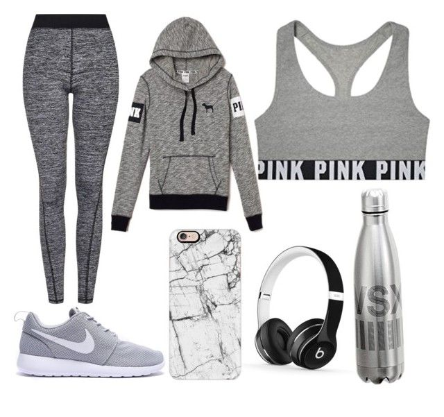 """""""going to the gym"""" by life-is-food ❤ liked on Polyvore featuring Topshop, Beats by Dr. Dre, Casetify and Victoria's Secret"""