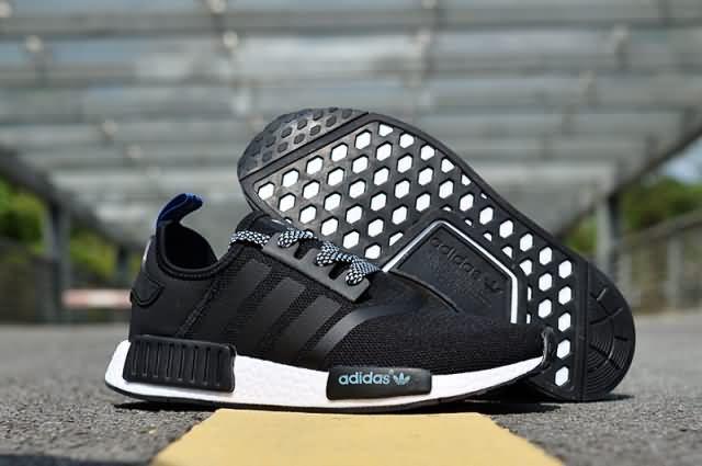 61e4c91bf Adidas NMD 2017 R1 Unisex  black royal blue shoes Whatsapp 8613328373859