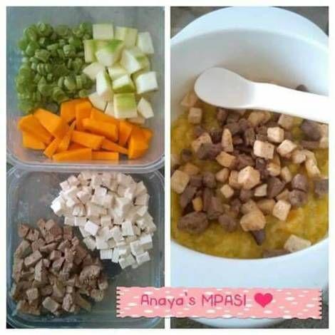 Resep Bubur Duo Karbo Duo Protein Sayuran Mpasi 1y Oleh Indry Hapsari Resep Resep Makanan Bayi Makanan Bayi Makanan Sehat