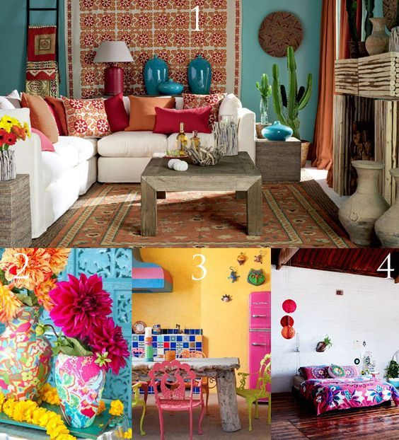 Frida Kahlo Inspired Bohemian Interior Decor