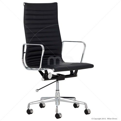 management office chair eames reproduction high back black