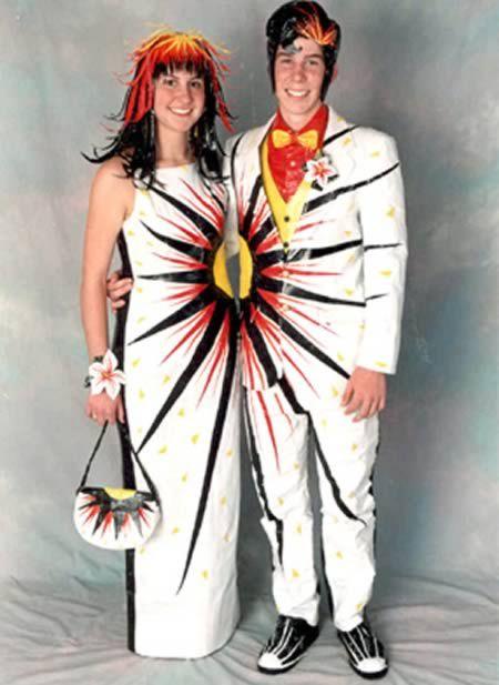 12 Funniest Matching Couples Matching Couples Weird Prom Dress