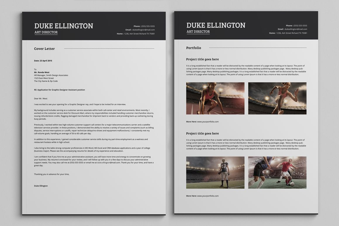 Two Pages Classic Resume CV Template by SNIPESCIENTIST on Creative ...