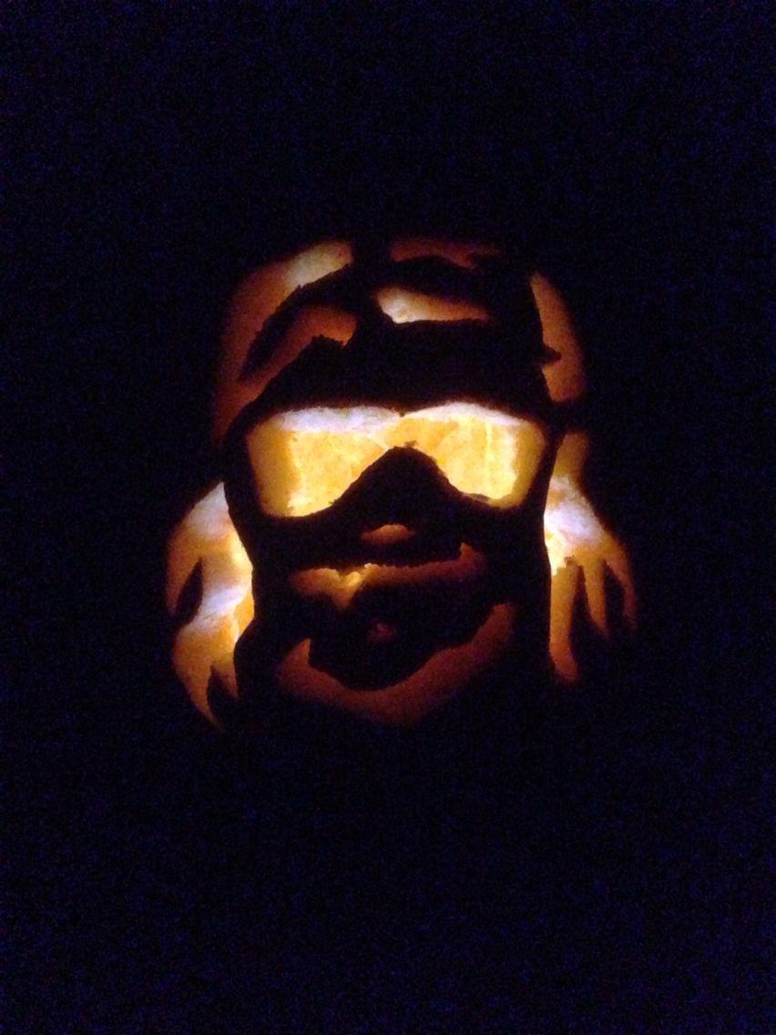 Macho Man Randy Savage Carved Pumpkin Pumpkin Carving Macho Man Randy Savage Carving