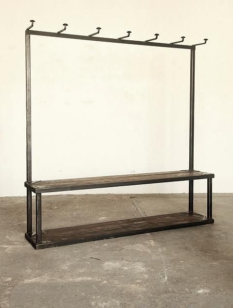 Storage: Coat Rack Bench at Strawser & Smith in Brooklyn