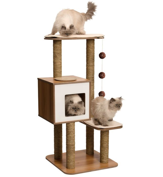 Beau V High Base White   Vesper {finally, Some Attractive AND Affordable Cat  Furniture