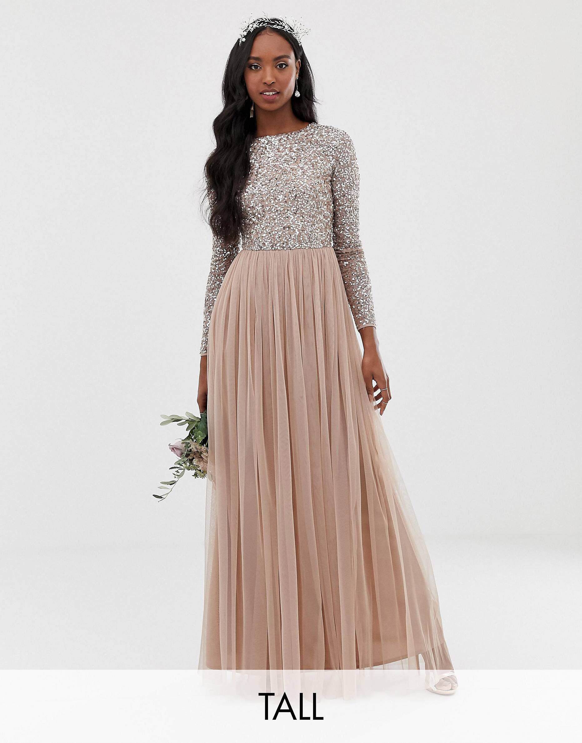 Pin by Adriana Marie on Bridesmaid dresses | Long sleeve