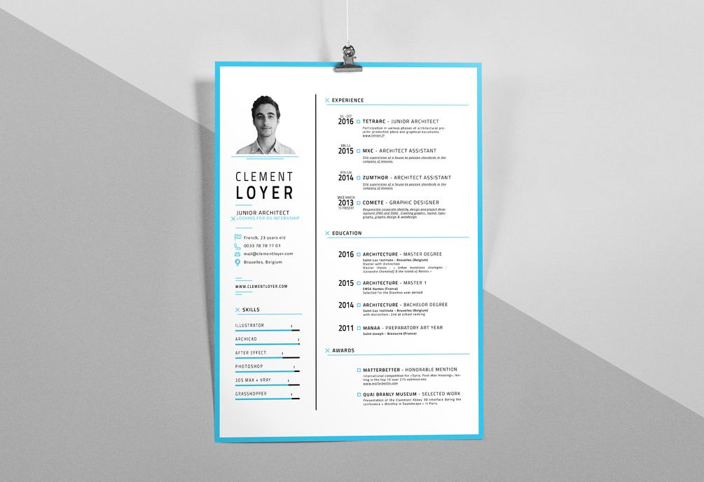 Graphic Resume Template, To Make Your Own Curriculum And Give A