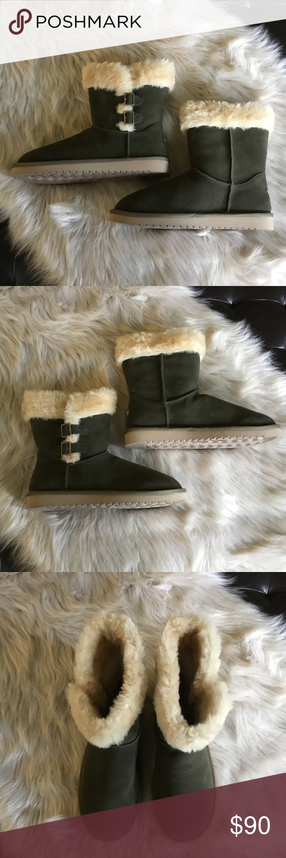12bce73be38 Koolaburra By Ugg Suede Buckle Boot 10 Olive NWOB New Without Box ...