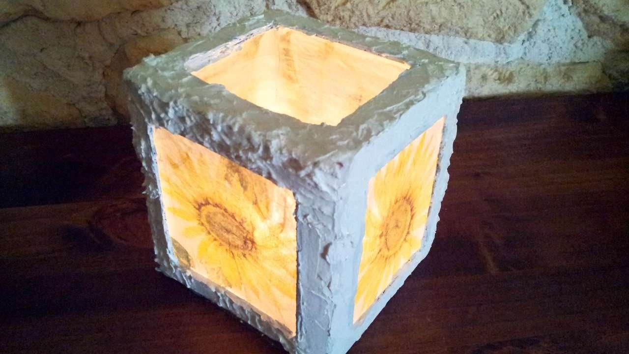 How To Make A Decoupage Lantern - DIY Home Tutorial - Guidecentral